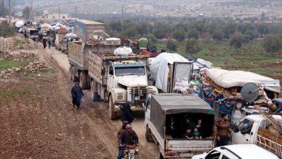 36 bin sivil daha Türkiye sınırı yakınlarına göç etti