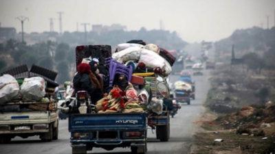 27 bin sivil daha Türkiye sınırına yakın bölgelere göç etti