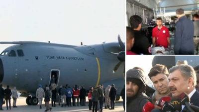 Somali'deki saldırıda yaralanan 10 kişi Türkiye'ye getirildi