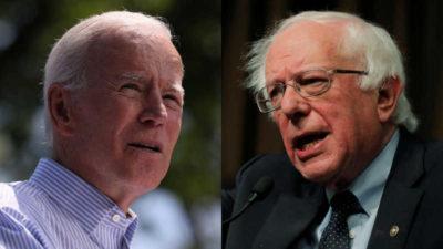 Sanders rakibi Biden'ı geçti