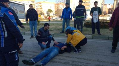 Mustafakemalpaşa'da kaza: 1 yaralı
