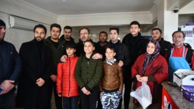 Bakan o futbolcularla Elazığ'da…