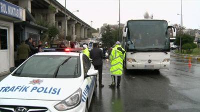 Emniyet duyurdu! 351 otobüs trafikten men edildi