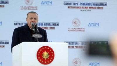 Cumhurbaşkanı Erdoğan: İstanbul Havalimanı-Gayrettepe arası ulaşım 35 dakikada sağlanacak