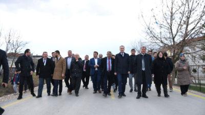 Bursa'nın ilk beton yolu törenle açıldı