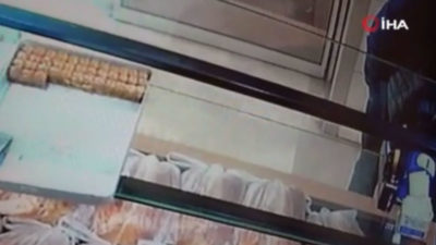Fırındaki hırsızlık kamerada