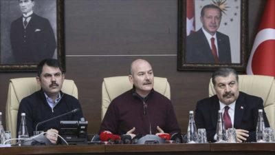 İçişleri Bakanı Soylu: Enkaz altından 45 vatandaş kurtarıldı