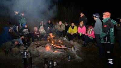 Gönüllülük kampında eksi 8 derecede 'hayatta kalma' eğitimi