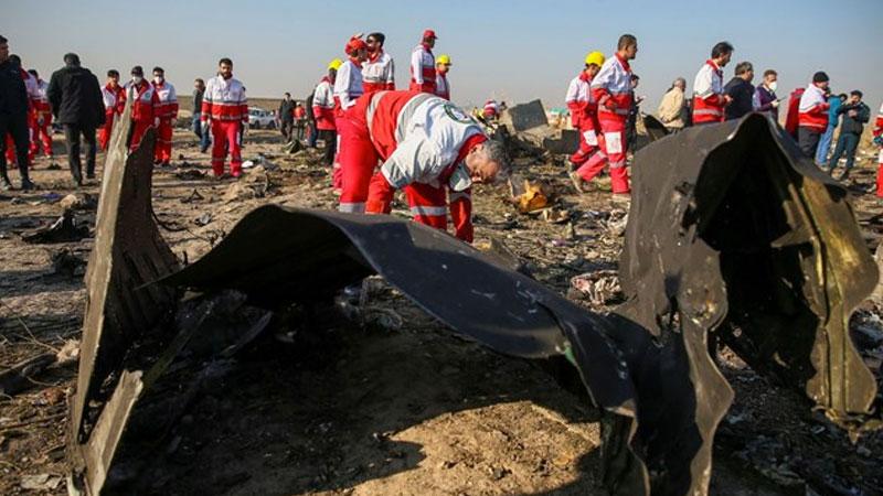 Düşen uçakla ilgili İran'dan açıklama