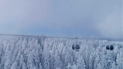 Uludağ'da büyüleyici kar yolculuğu