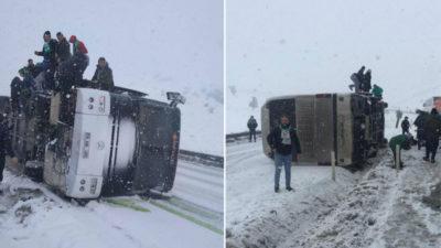 Bursaspor taraftarı yine kaza geçirdi