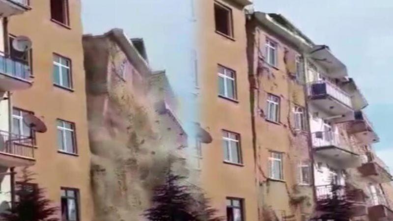 Bir deprem daha! Böyle yerle bir oldu