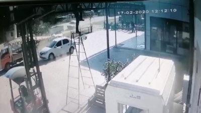 Bursa'da panik anları! Saniye saniye kaydedildi…