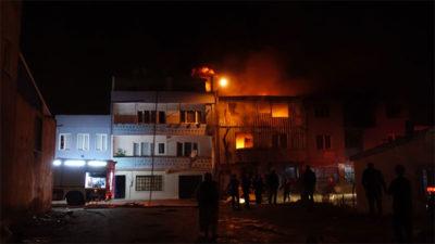 Bursa'da yürekleri ağza getiren yangın