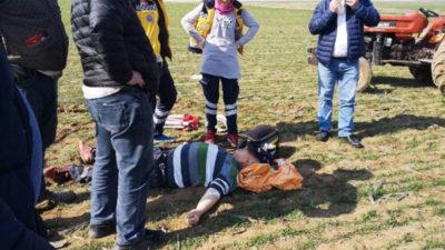 Bursa'da korkunç olay! Tarlayı sürerken dehşeti yaşadı…