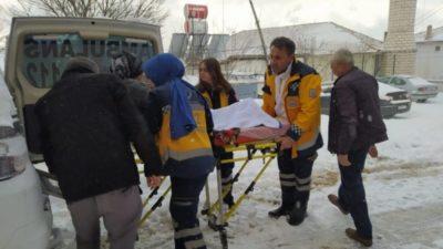 Karda mahsur kalan hasta için seferberlik!