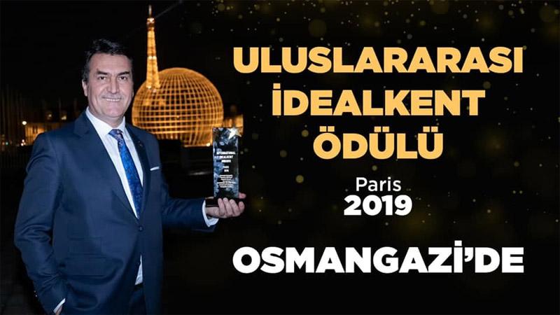 Uluslararası İdealkent Ödülü Osmangazi'de