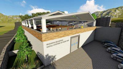 Mudanya'da kapalı pazar yeri proje çalışmaları tamamlandı