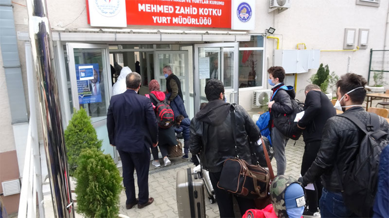 Bursa'da 206 kişi daha yurtlarda karantinaya alındı