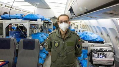 Alman Hava Kuvvetleri, İtalya'dan Almanya'ya hasta taşımaya başladı