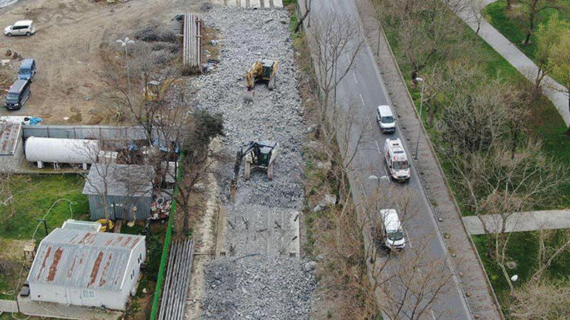 Tramvay inşaat hattının temelinde kayma! Yeniden inşa edilecek