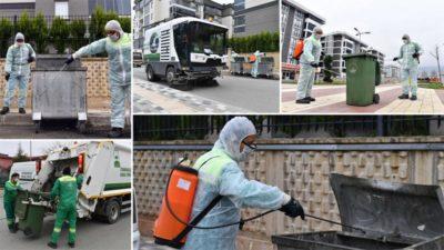 Osmangazi'de 200 bin konteyner ilaçlanıyor