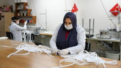 İnegöl Belediyesi'nden maske seferberliğine dev destek