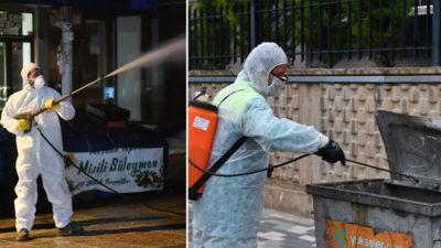Olağanüstü gayretle dezenfeksiyon-temizlik çalışması