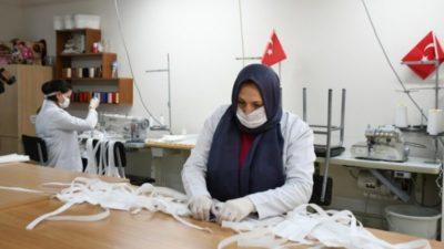 İnegöl Belediyesi maske üretimine başladı