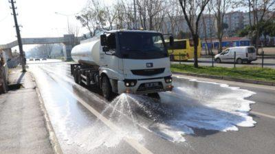 Mudanya sokakları yıkanıyor…