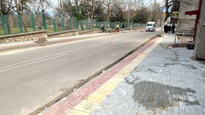 Osmangazi'nin kaldırımları güzelleşiyor