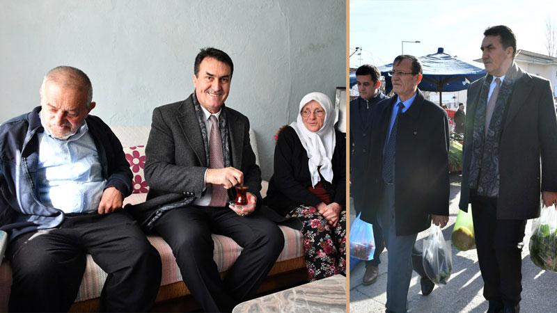 Yaşlı çifti mutlu eden sürpriz ziyaret