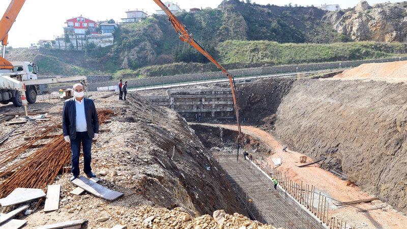 Yıldıztepe'de beton çalışmaları başladı