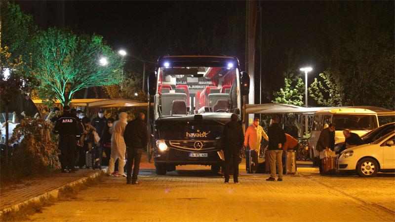Yurtdışından getirilen 439 Türk, Bursa'da yurda yerleştirildi
