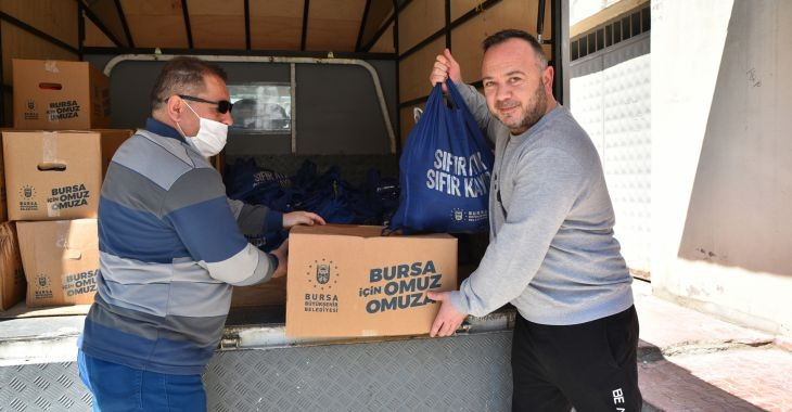 Büyükşehir'den 1500 aileye gıda yardımı