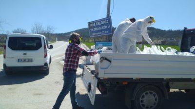 Bursa'da karantinadaki mahalleye Büyükşehir desteği