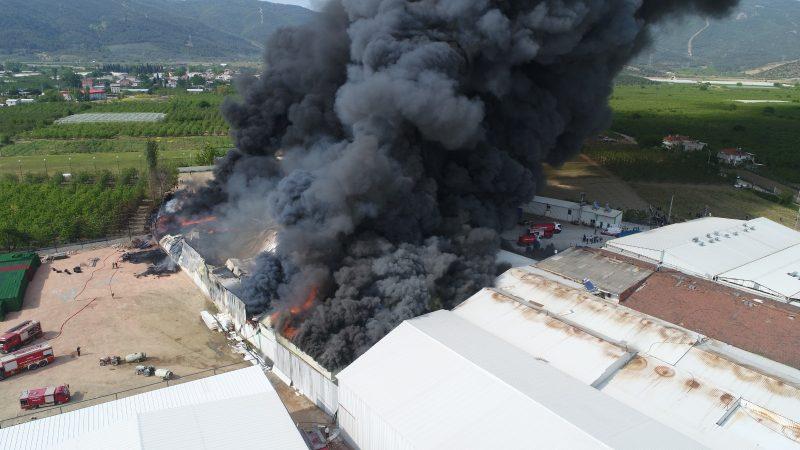 Bursa'da korkutan yangın… Soğuk hava deposu…