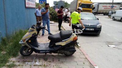 Bursada otomobil ile motosiklet çarpıştı
