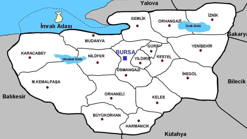 İlçe ilçe Bursa Covid-19 risk haritası