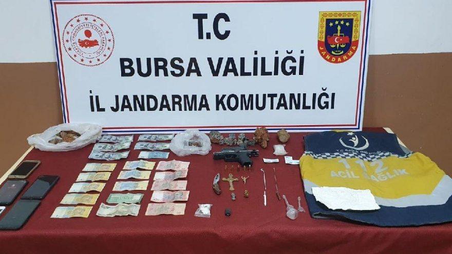 Bursa'da 112 yelekli tarihi eser kaçakçısı koronavirüslü çıktı