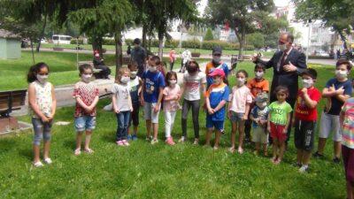 Bursa'da 5-10 yaş aralığı çocuklar için özel maske
