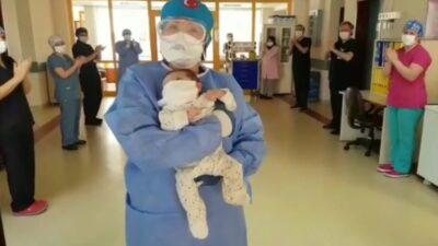 Bursa'da koronavirüs tedavisi gören 45 günlük bebekten haber var