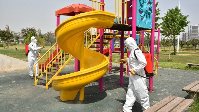 Bursa'da parklar pandemi sonrasına hazırlanıyor