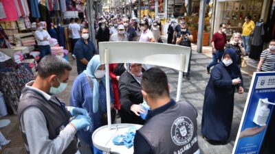 Bursa'da tarihi çarşıda tedbirler arttırıldı