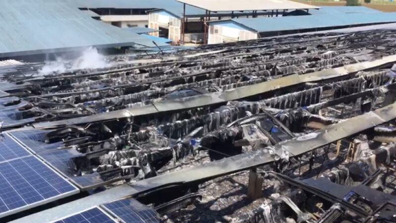 Bursa'da hayvan çiftliği alev alev yandı