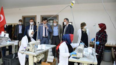 İnegöl Belediyesi'nde hedef 1 milyon maske
