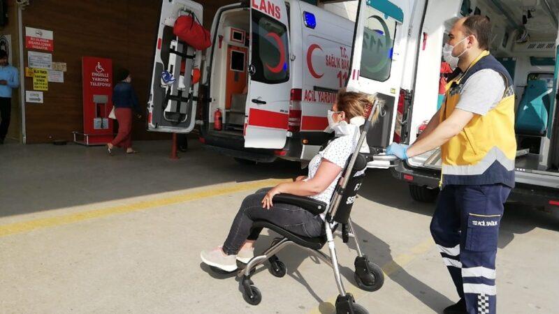 İnegöl'de iki araç çarpıştı: 4 yaralı