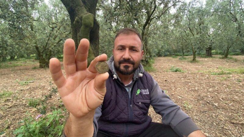 Bursa'da tarladan 2200 yıllık sikke çıktı
