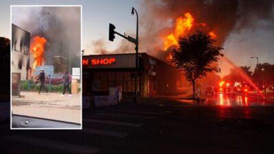 Amerika yanıyor… Yağmalama başladı…
