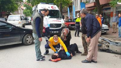 Yer: Bursa… Motosikletli kadın kazada yaralandı